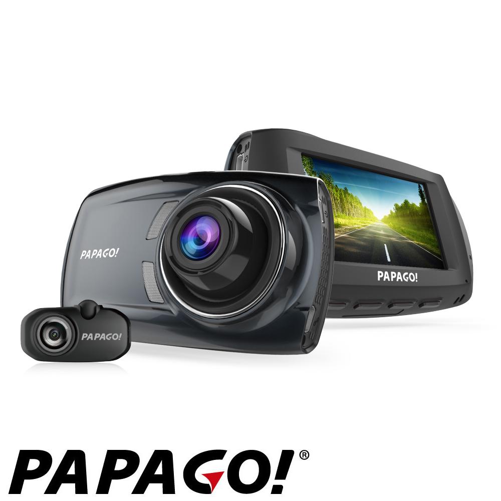 PAPAGO! GoSafe S810前後雙鏡頭SONY感光元件行車記錄器+32G+點煙器+擦拭布+手機矽膠立架+防滑置物墊