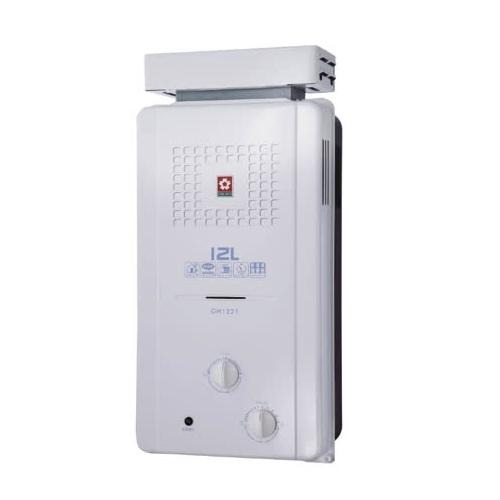 (全省安裝)櫻花12公升ABS抗風型防空燒(與GH1221/GH-1221同款)熱水器天然氣GH-1221N