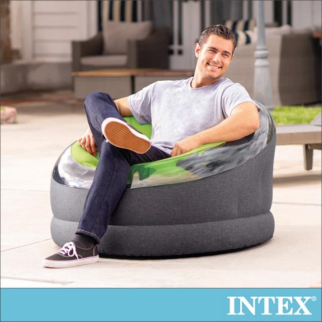 【INTEX】帝國星球椅 /充氣沙發/懶骨頭112x109x高69cm-檸檬綠(66582)