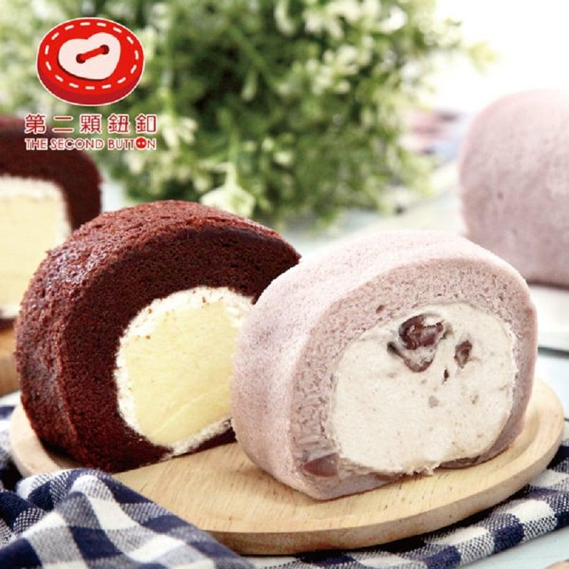 《第二顆鈕釦KD》奶凍捲系列(巧克力*1+紅豆芋頭*1)
