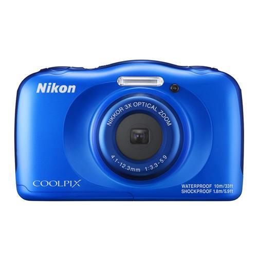 NIKON COOLPIX W100 - 藍色 數位相機(公司貨)