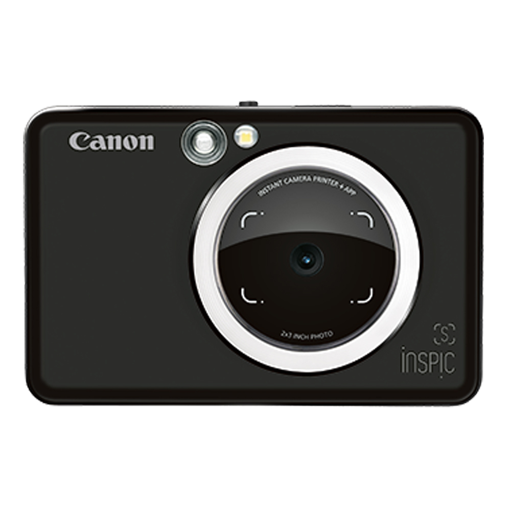 Canon iNSPiC [S] ZV-123A 拍可印相機(公司貨)/消光黑-送相冊+收納包+30張底片(含盒內)