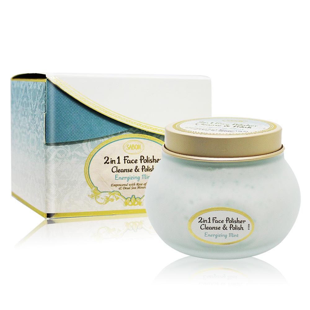 SABON 二合一臉部純淨磨砂膏-薄荷(200ml)-國際航空版