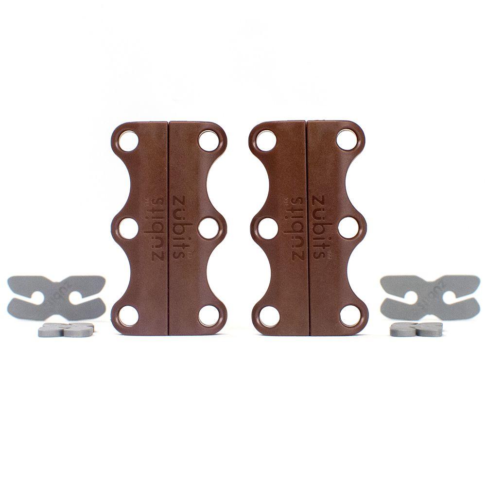 美國 Zubits 強磁鞋帶扣 2 號 - 棕褐