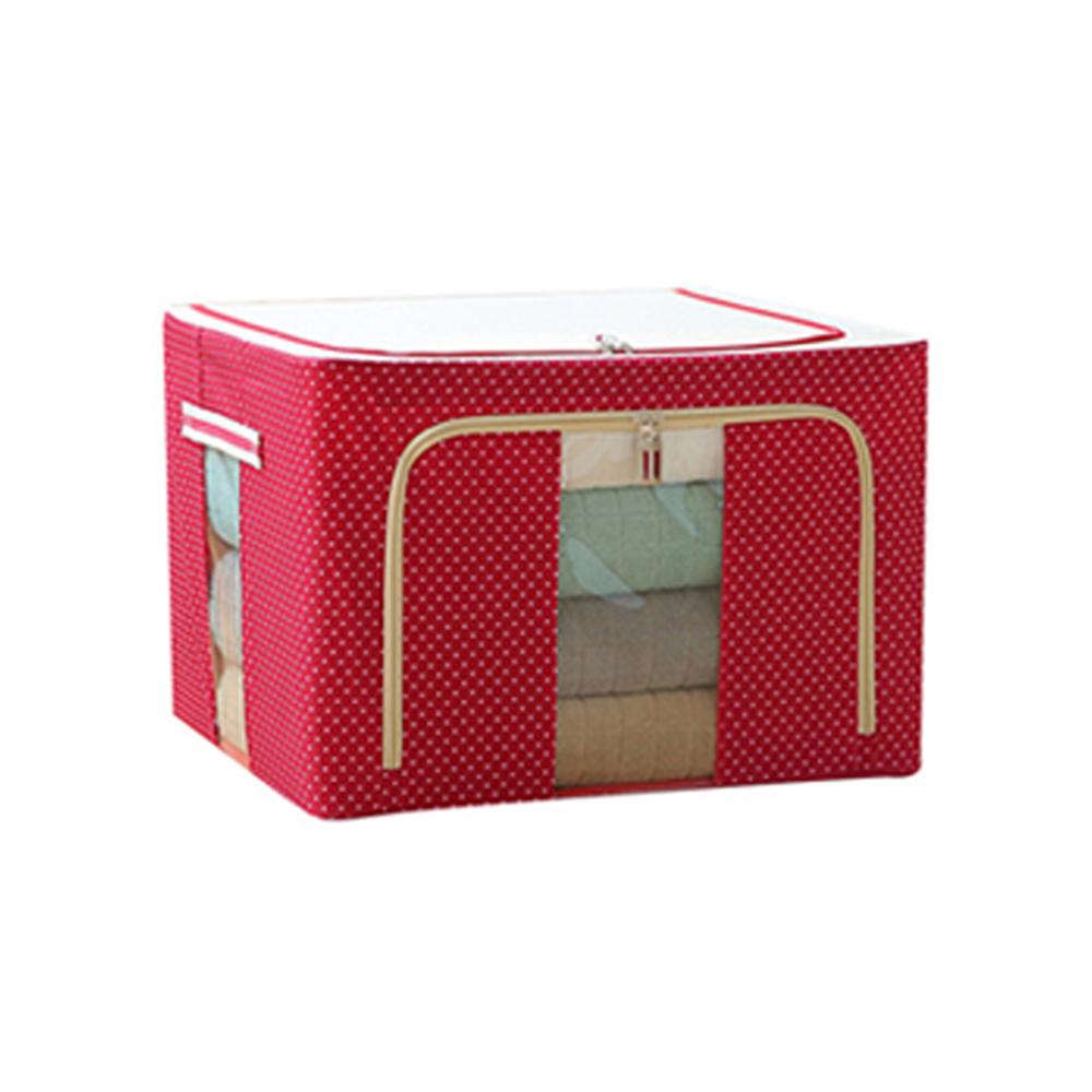 22L【紅點點】牛津布折疊防塵收納箱