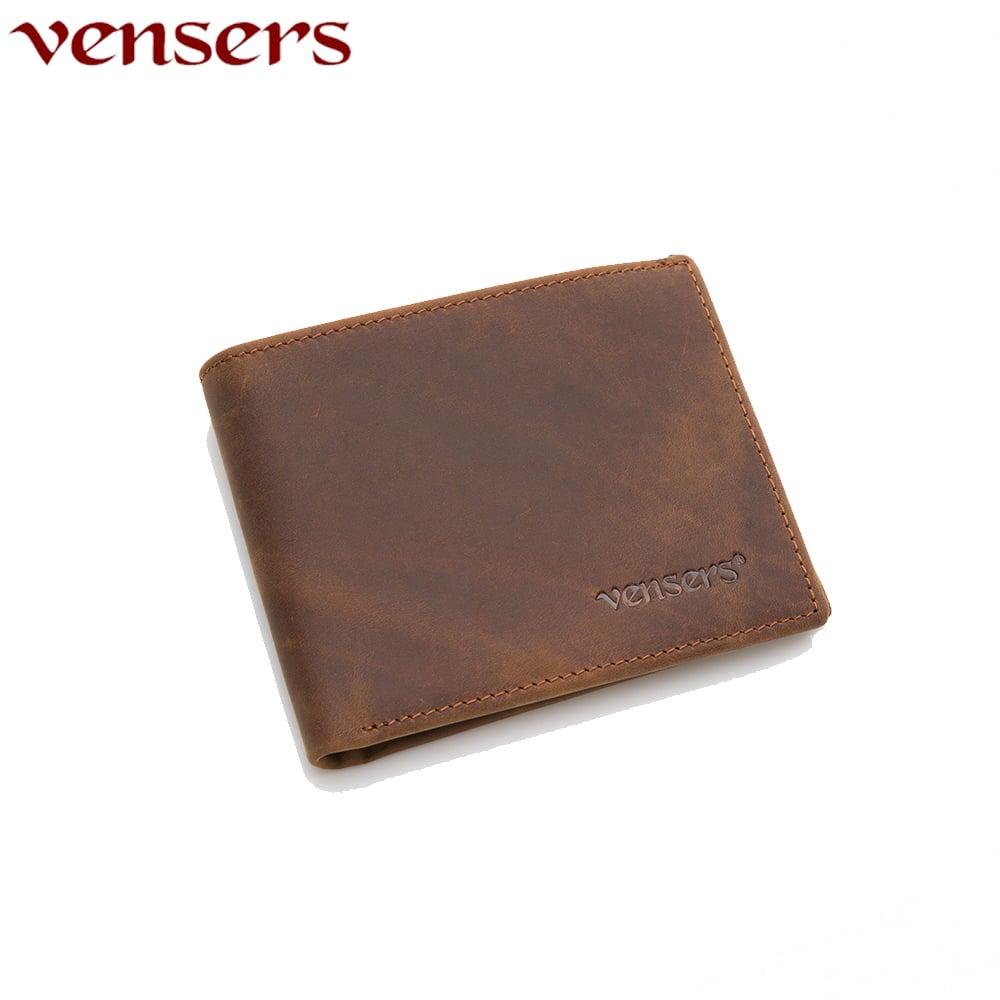 【vensers】小牛皮潮流個性皮夾~(NB600401瘋馬皮短夾)