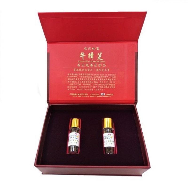 【台灣珍寶】萜衛士 頂級牛樟芝子實體滴粒 (2瓶/盒)