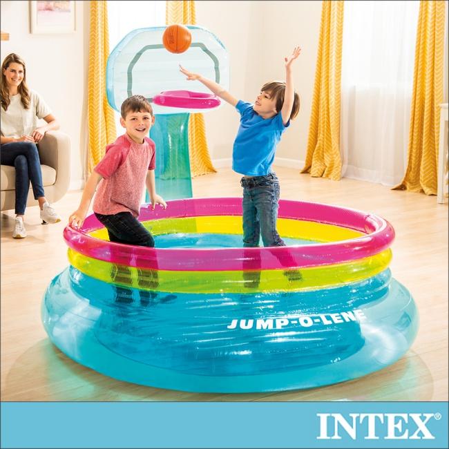 INTEX 籃球框跳跳床 適用3-6歲(48265)