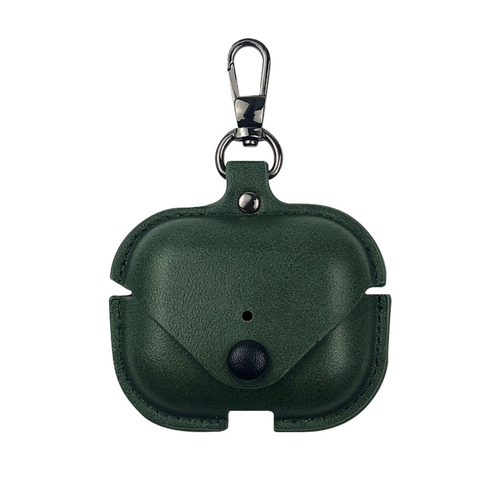 AirPods Pro專用 英倫風皮革保護套-綠色