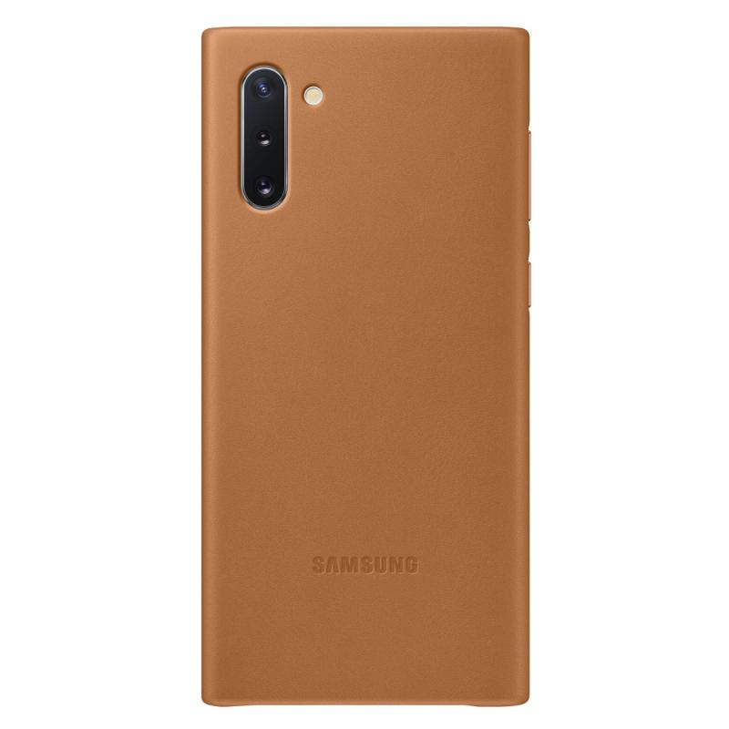 SAMSUNG Galaxy Note10皮革背蓋 棕