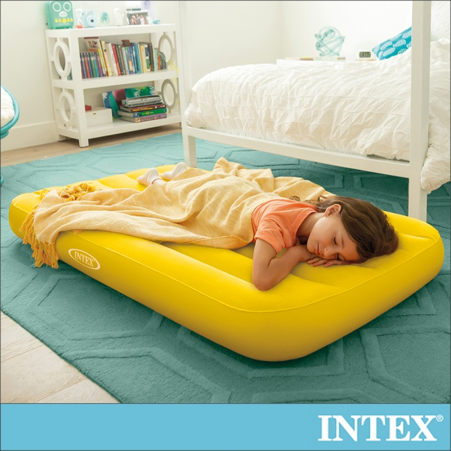 【INTEX】兒童充氣床88x157x高18cm-黃色(66803)