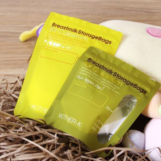 【韓國 MOTHER-K】母乳/初乳專用抗菌儲存袋 50ml/100ml(3盒)