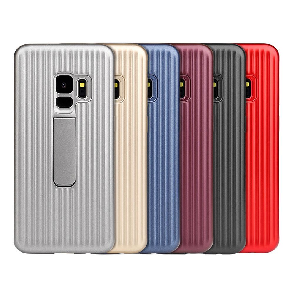 QinD SAMSUNG Galaxy S9 獵鷹支架殼(黑色)