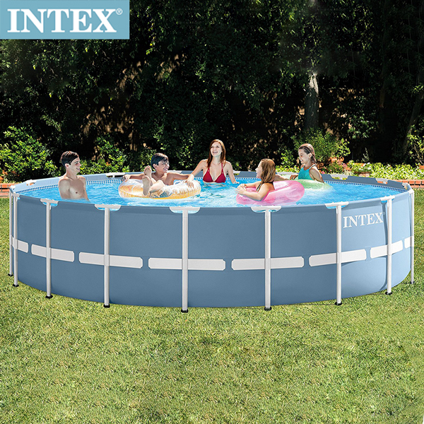 【INTEX】圓型框架速搭大型游泳池(附濾水泵)549x122cm(24311L)適用6歲+(26751)