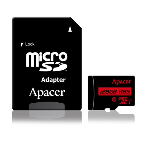 Apacer宇瞻 128GB MicroSDXC UHS-I Class10 記憶卡 85MB/s (附轉卡)