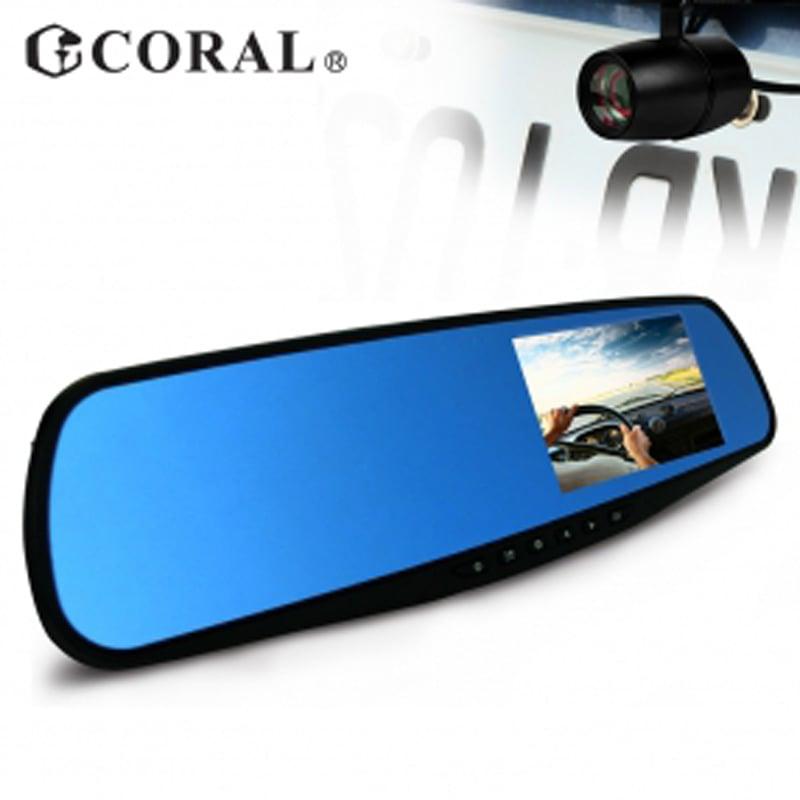 CORAL R2 - 後視鏡型高清前後雙錄 雙鏡頭行車記錄器