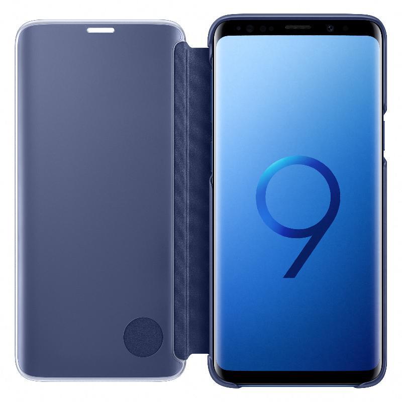 SAMSUNG Galaxy S9透視感應皮套(立架式) 藍色