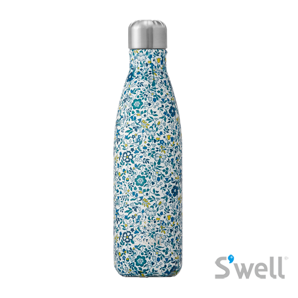 【S'well】紐約時尚不鏽鋼保冷保溫瓶-Liberty Fabrics&S'well系列 Kaite And Millie 17oz(500ml)