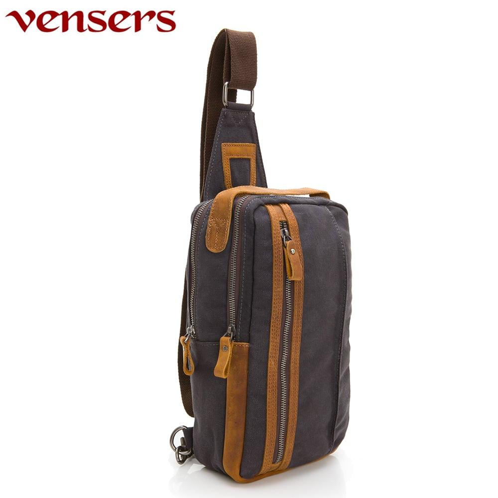 【vensers】韓潮棉麻包系列~胸包(C8058001灰色)