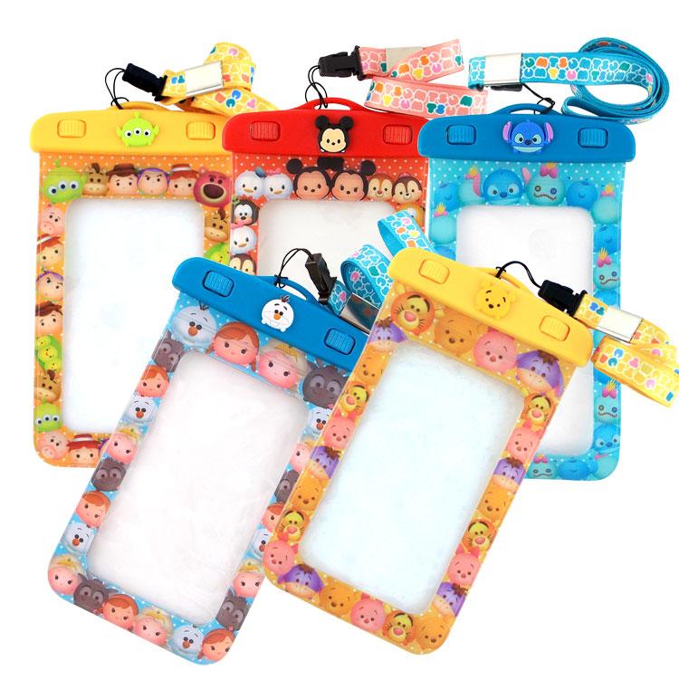 Disney迪士尼TSUM TSUM 5吋通用可愛繽紛手機防水袋_星際寶貝