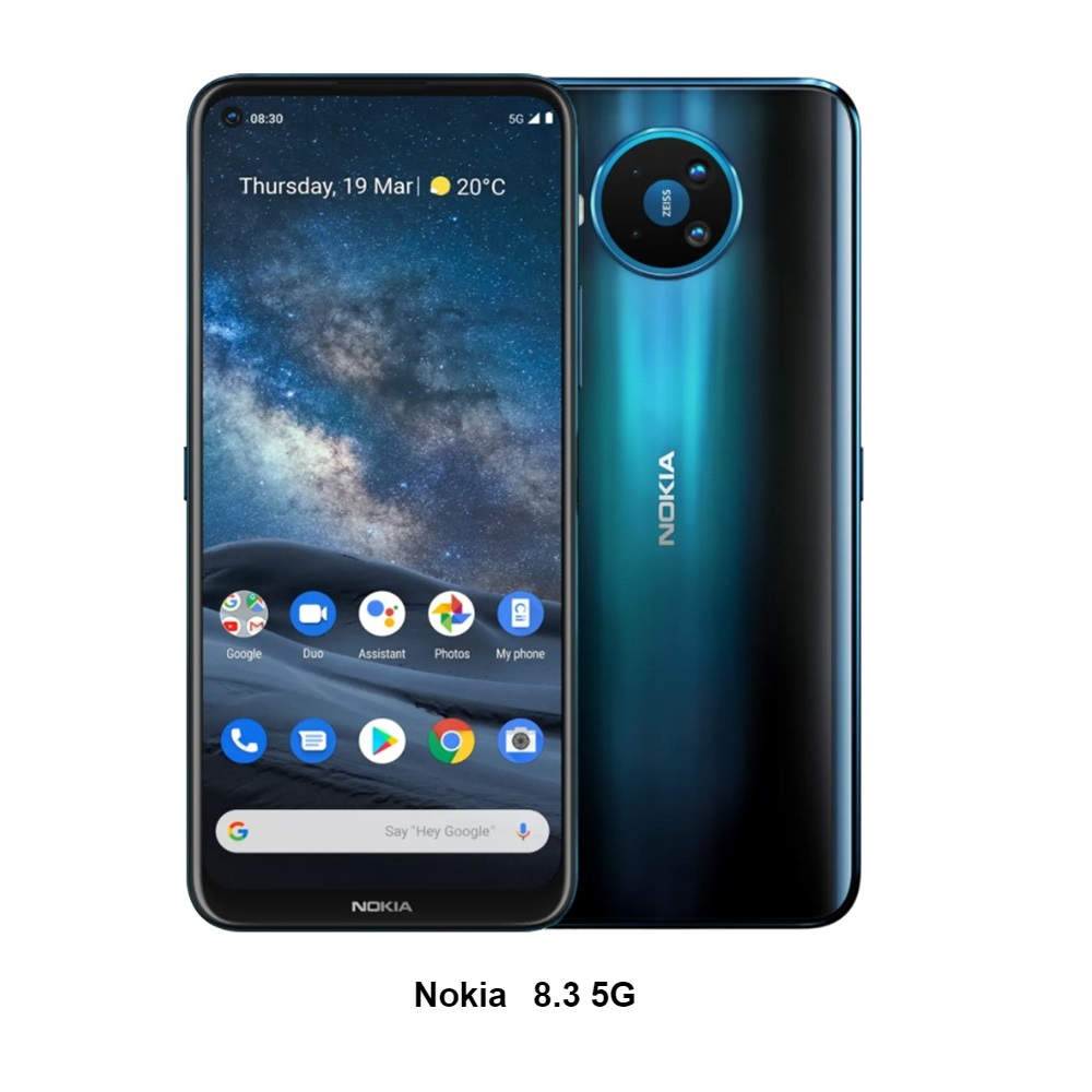 NOKIA 8.3 8G/128G 6.81吋 5G智慧手機_藍 (贈手機支架)