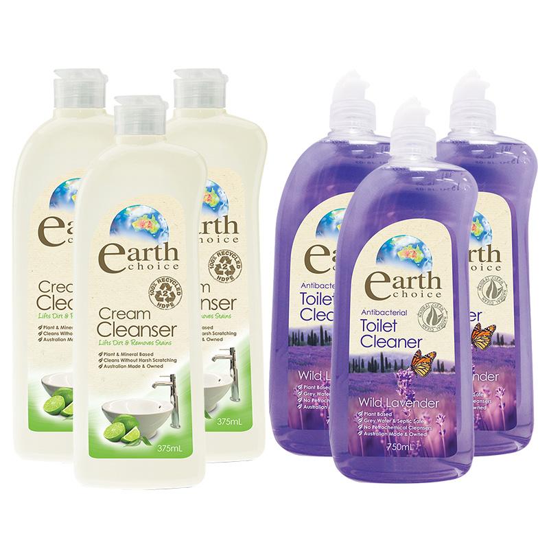 【澳洲Natures Organics】植粹萬用去污膏375mlx3入+植粹浴廁清潔劑(薰衣花香)750mlx3入