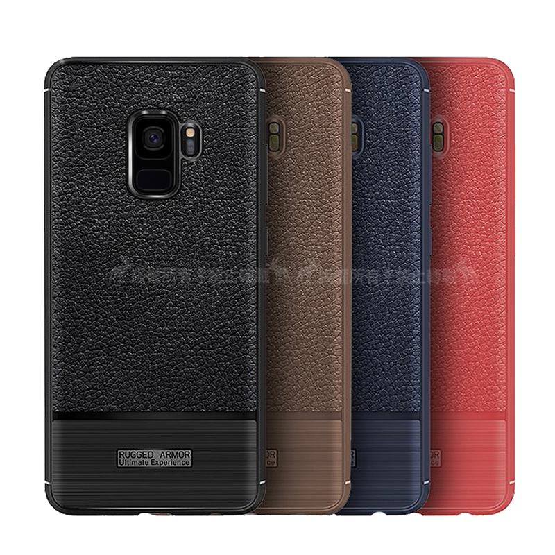 VXTRA Samsung Galaxy A6+/A6 Plus 防滑手感皮紋 軟性手機殼 (暗藍)