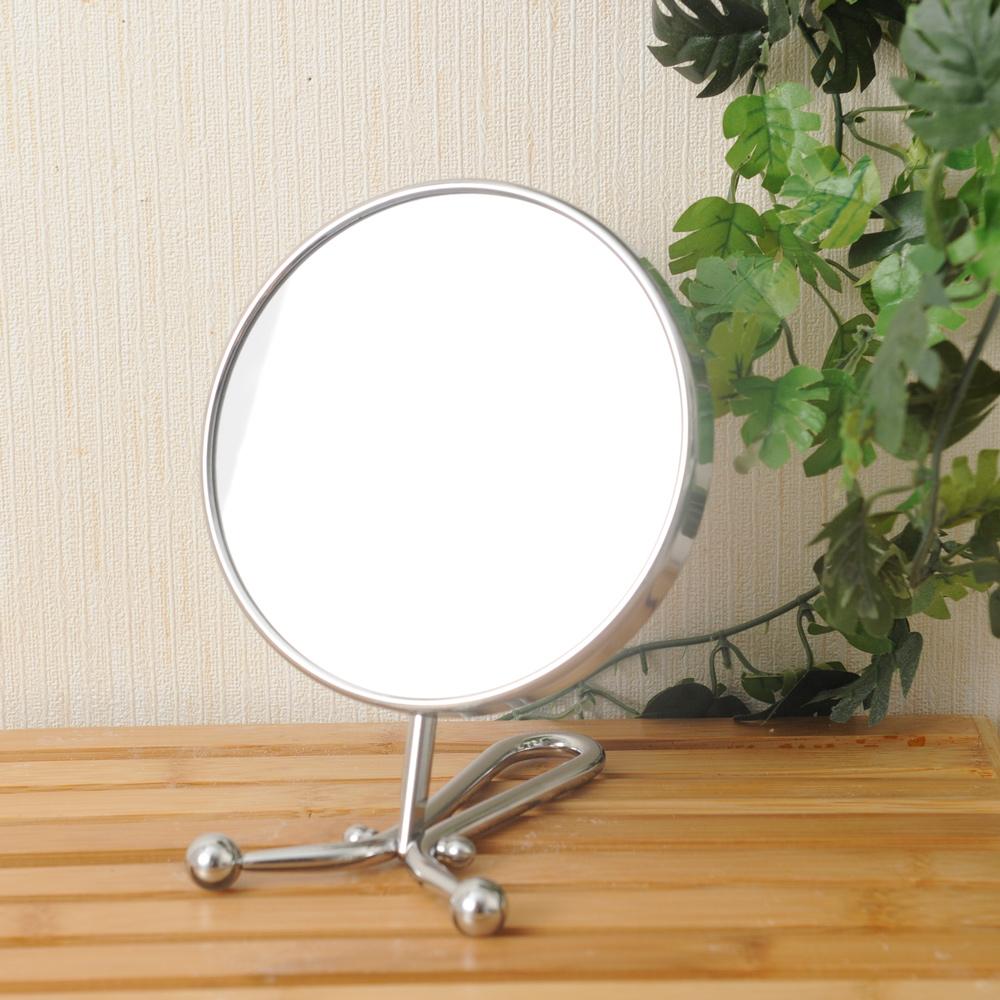 簡約主張1x3倍手拿立桌兩用雙面鏡-生活工場