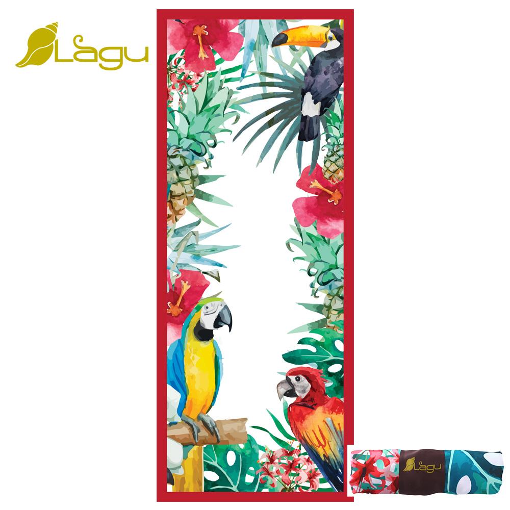 【Lagu】快乾防沙毯 沙灘巾 -金剛鸚鵡