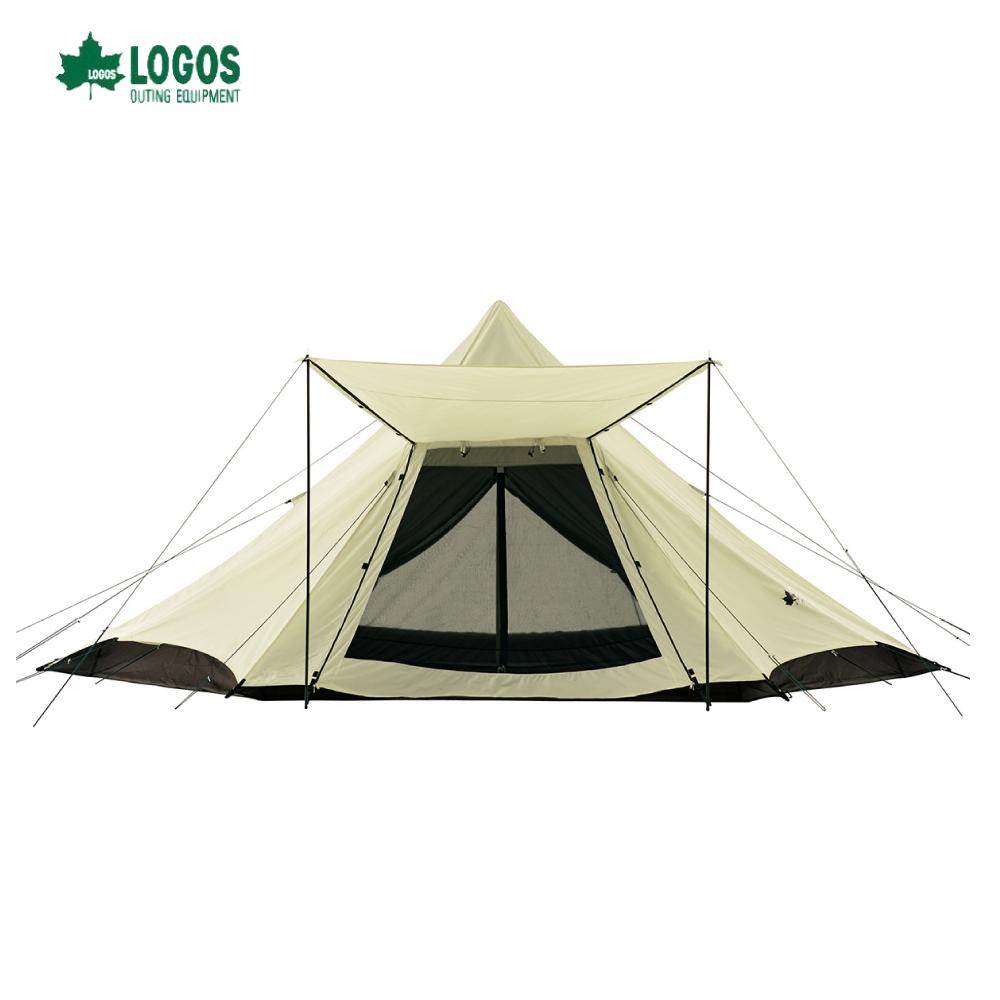 日本LOGOS Tepee G/B 印地安帳520-AH 8人大帳篷 No.71805527