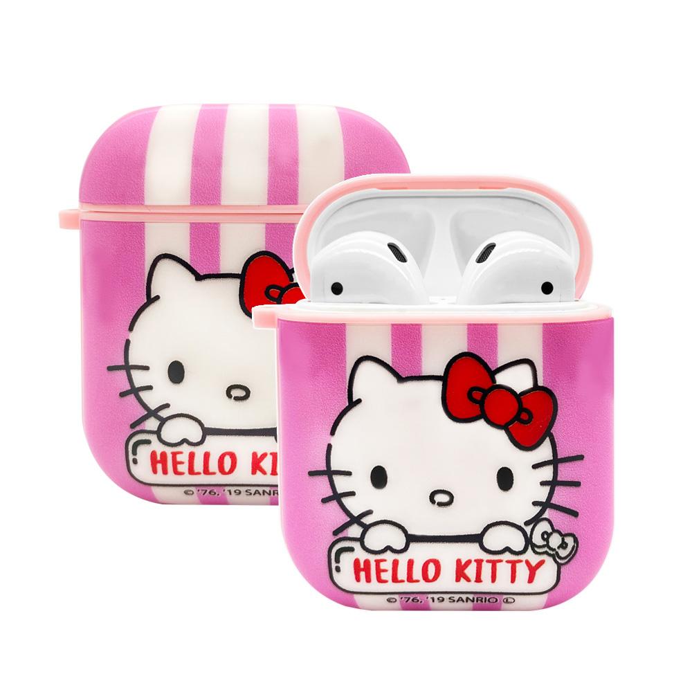 【正版授權】Sanrio三麗鷗 AirPods 矽膠保護套-粉紅Kitty