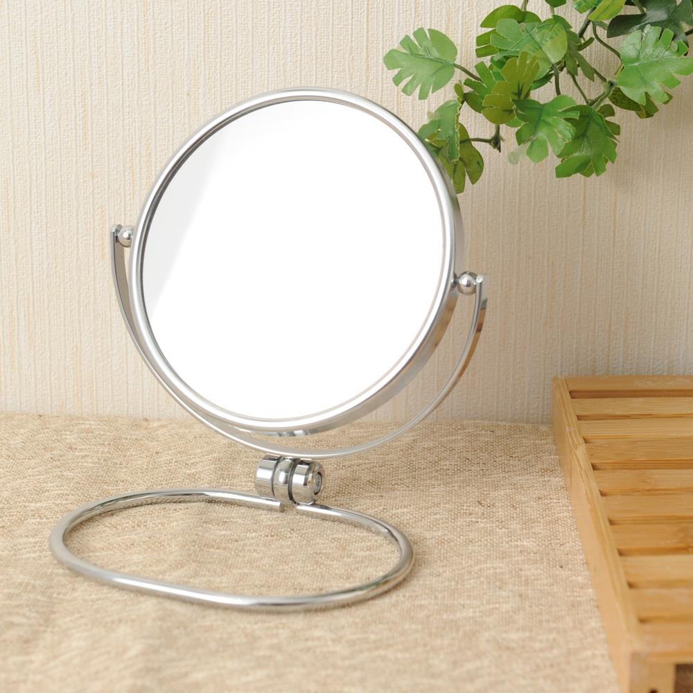 折疊式鍍鉻雙面桌鏡-生活工場