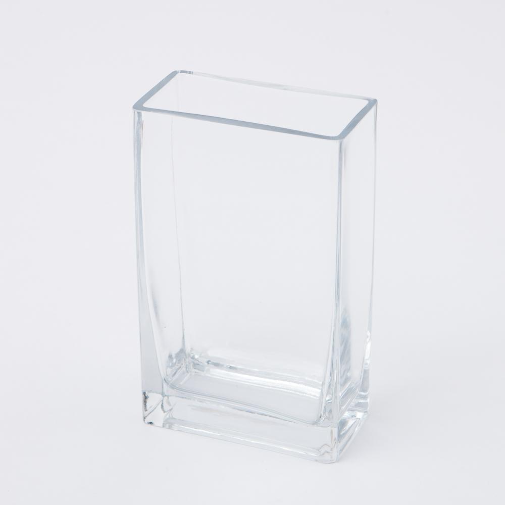Clear長方手工花瓶H20cm-生活工場