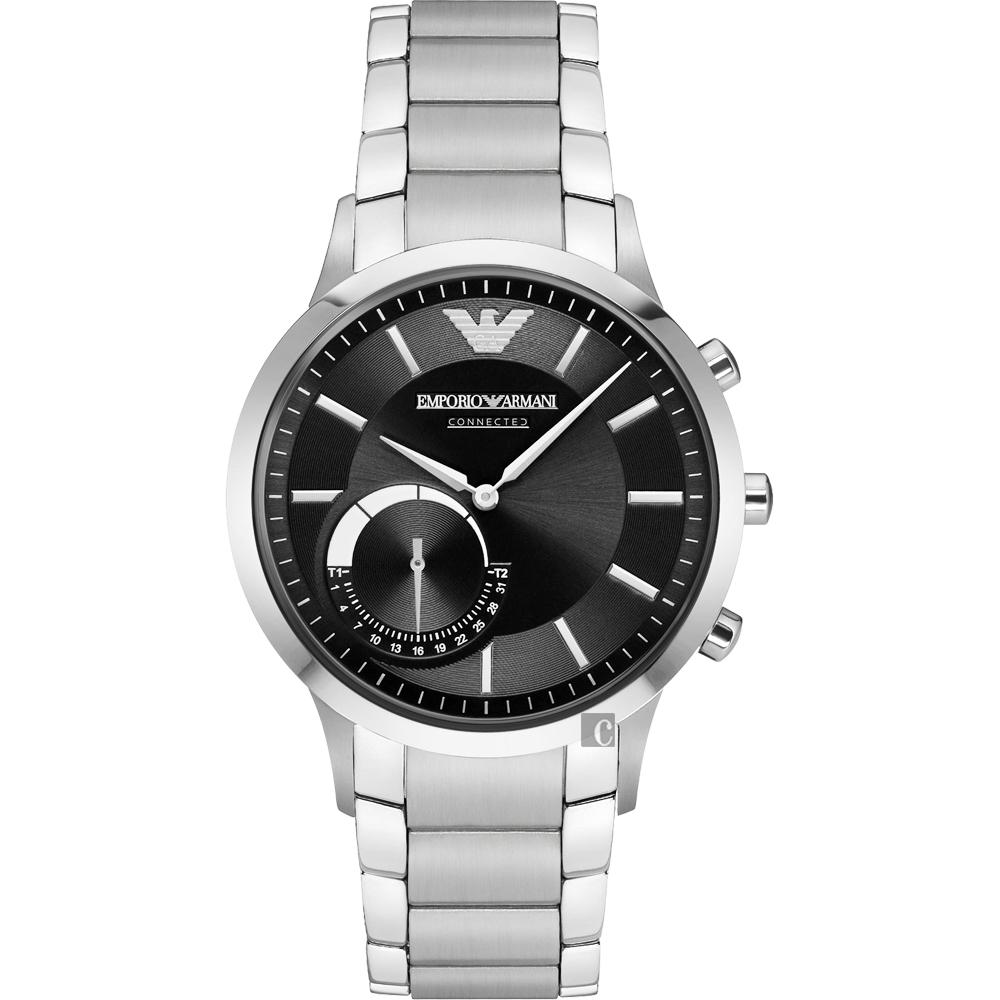 Emporio Armani Connected Hybrid 智慧型腕錶-黑x銀43mm ART3000