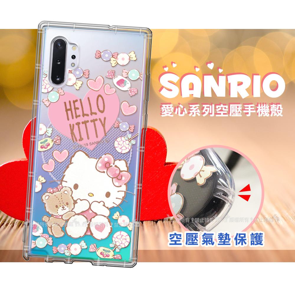 三麗鷗授權 Hello Kitty凱蒂貓 三星 Samsung Galaxy Note10+ 愛心空壓手機殼(吃手手)