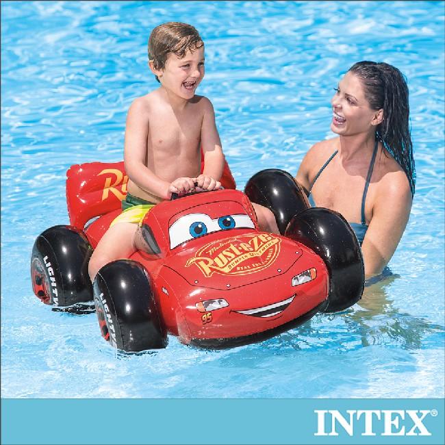 【INTEX】麥坤CARS水上汽車坐騎 適用:3歲+(57516)
