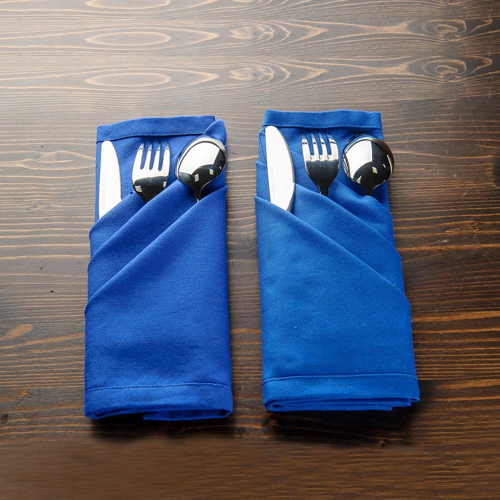 深海藍餐巾2入組50x50cm-生活工場