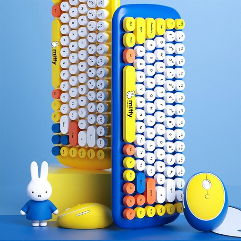 miffy x MiPOW 米飛x麥泡聯名無線鍵盤滑鼠套裝(藍色)