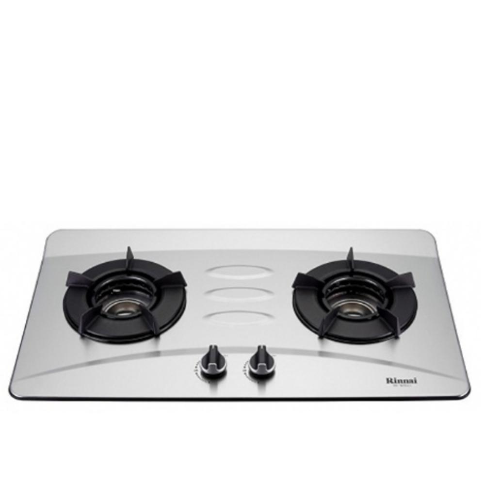 (全省安裝)林內雙口內焰檯面爐內焰爐不鏽鋼鑄鐵爐架(與RB-N201S同款)瓦斯爐RB-N201S_LPG