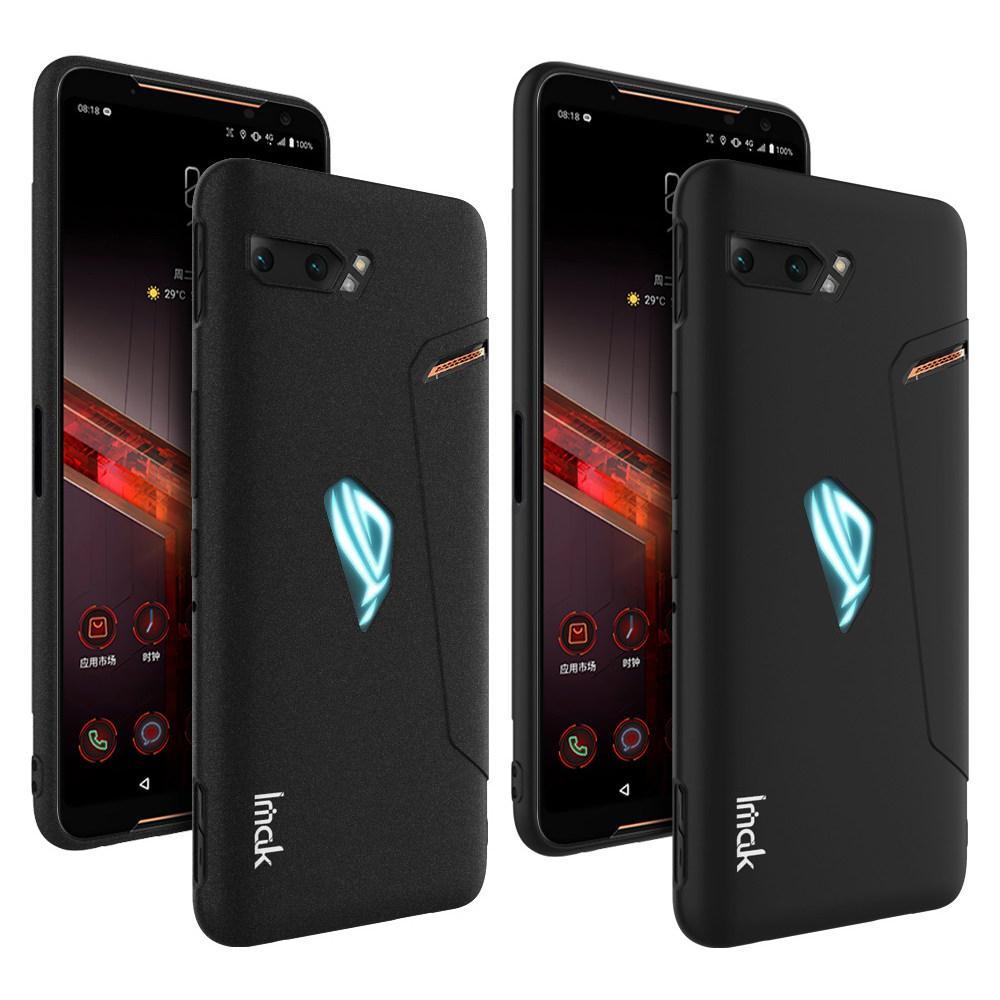 Imak ASUS ROG Phone 2 創意支架牛仔軟套(金屬黑)