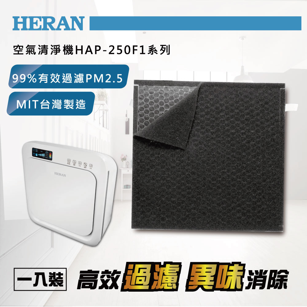 HERAN禾聯 空氣清淨機濾網 250F1-HCP (適用HAP-250F1系列)