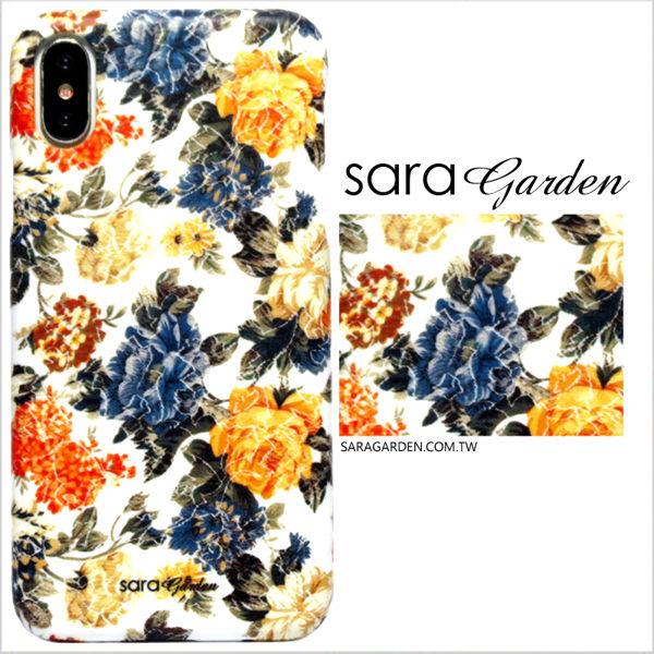 【Sara Garden】客製化 手機殼 蘋果 iphoneX iphone x 金箔 壓花 碎花 保護殼 硬殼