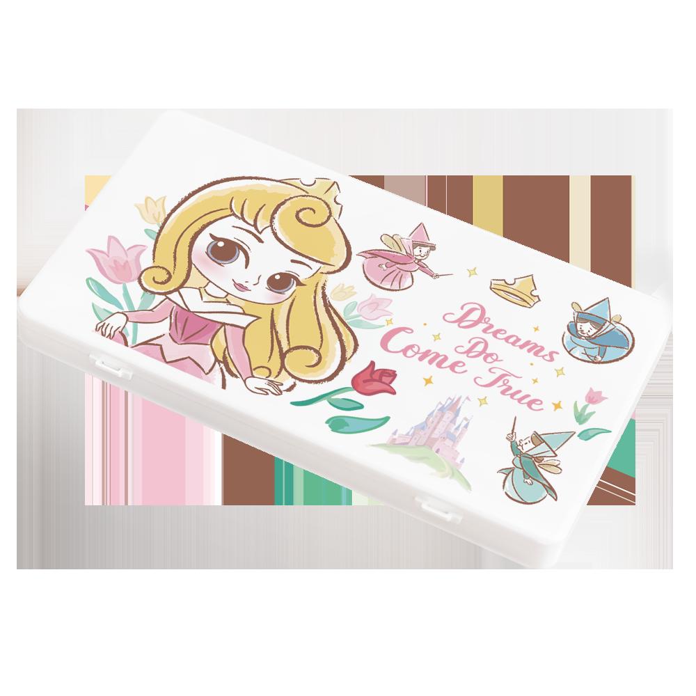 【收納王妃】迪士尼 (奧蘿拉)-Q版公主系列 防疫必備口罩盒/零錢盒/收納盒/文具盒