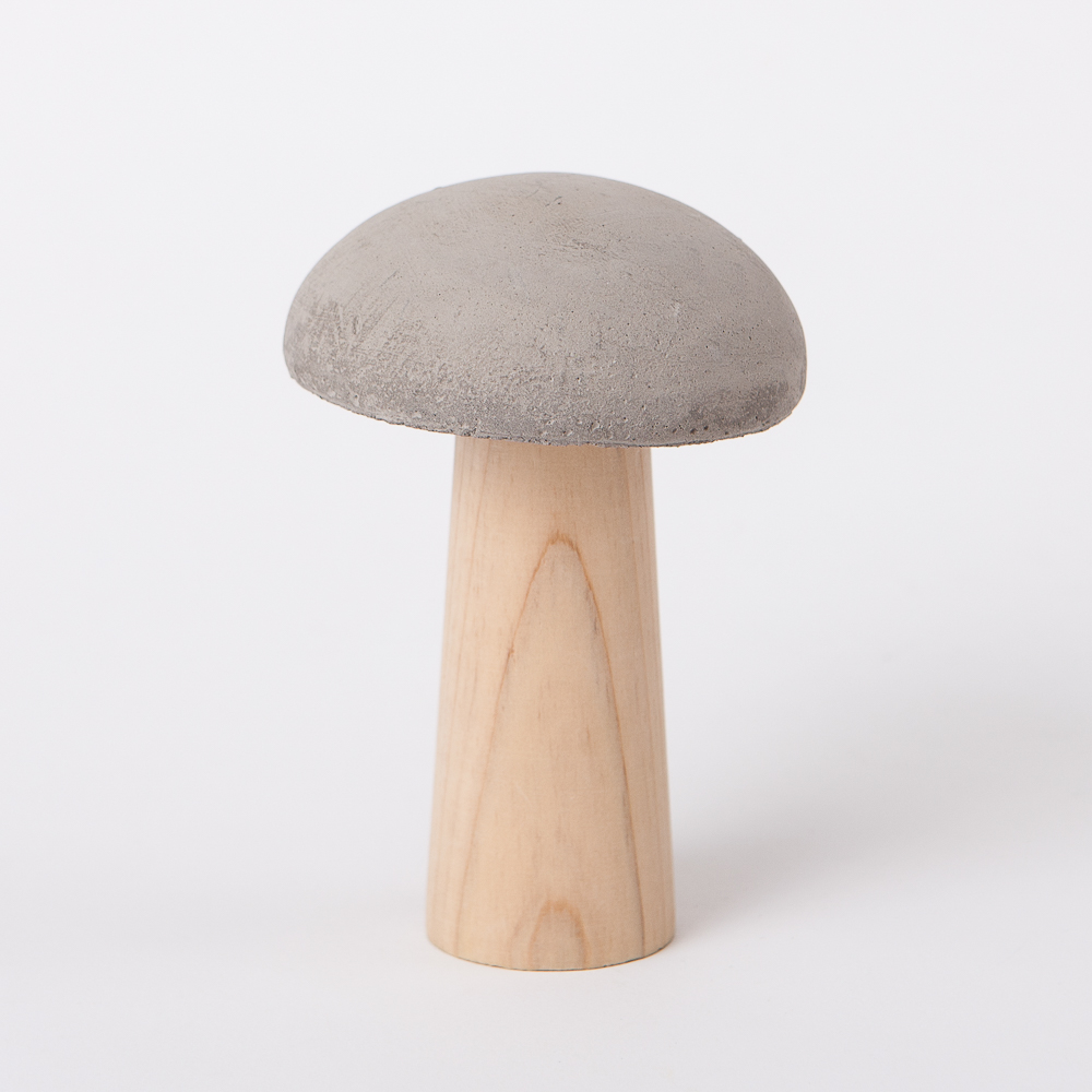 蘑菇森林擺飾-淺灰(小)-生活工場