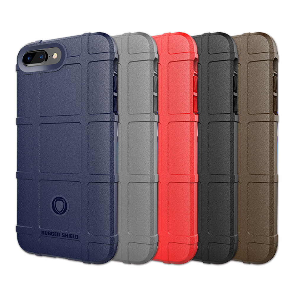 QinD Apple iPhone 8/7 Plus 戰術護盾保護套(灰色)