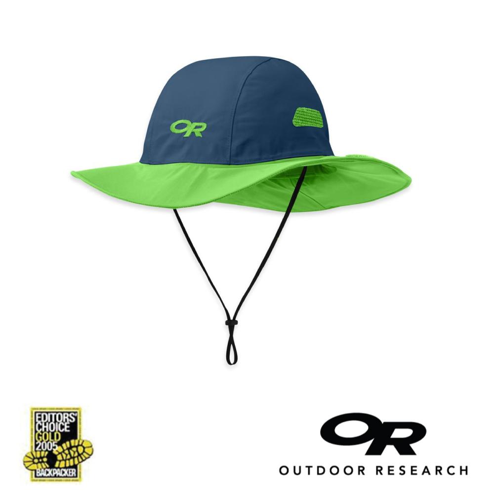 【美國Outdoor Research】藍綠M-經典款防水透氣防曬可折疊遮陽帽