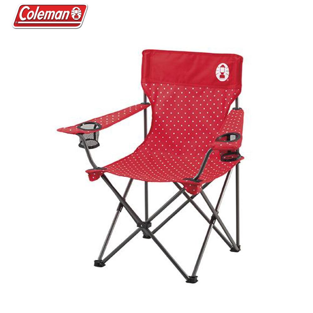 Coleman 圓點紅度假休閒椅 折疊椅 CM-26734