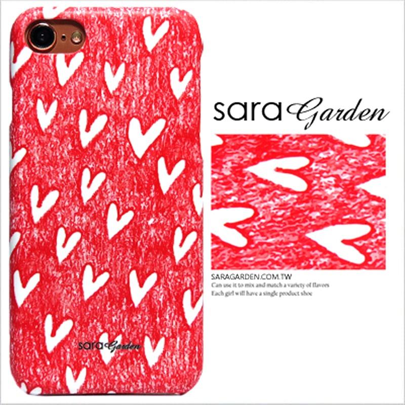 【Sara Garde】客製化 手機殼 蘋果 iphone7plus iphone8plus i7+ i8+ 手繪插畫愛心 保護殼 硬殼