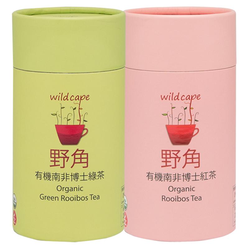 【野角wildcape】有機南非博士紅茶(20茶包/罐)+有機南非博士綠茶(20茶包/罐)
