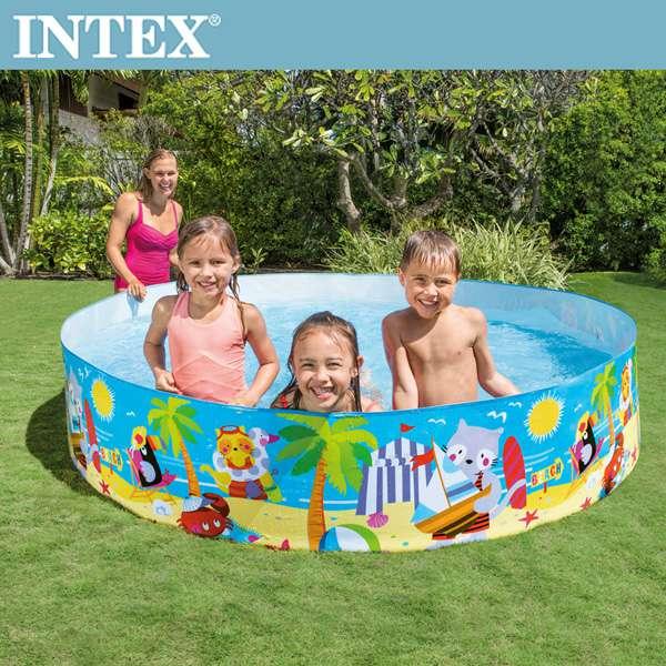 【INTEX】免充氣幼童戲水游泳池244x46cm(2040L) 適用3歲+(58457)